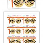 Free Printable: 100Th Day Of School   One Smart Cookie   Downloads +   100Th Day Of School Printable Glasses Free