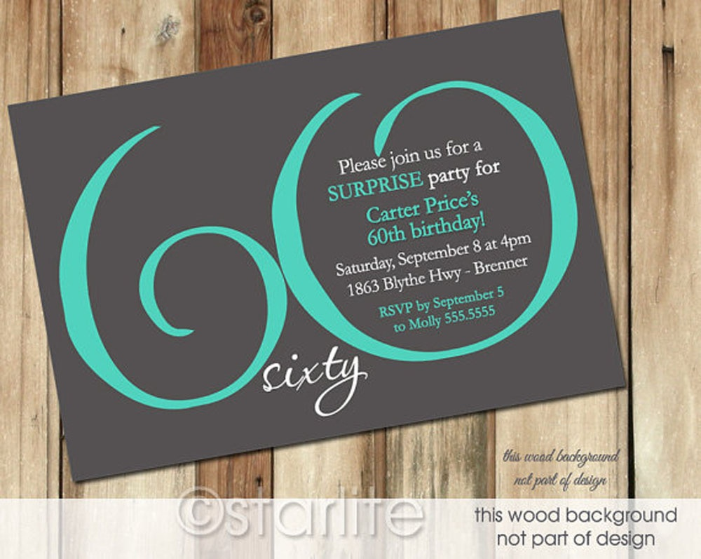 Free Printable 60Th Birthday Invitations Templates - Kaza.psstech.co - Free Printable Surprise 60Th Birthday Invitations