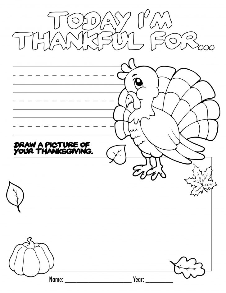 Free Printable Kindergarten Thanksgiving Activities