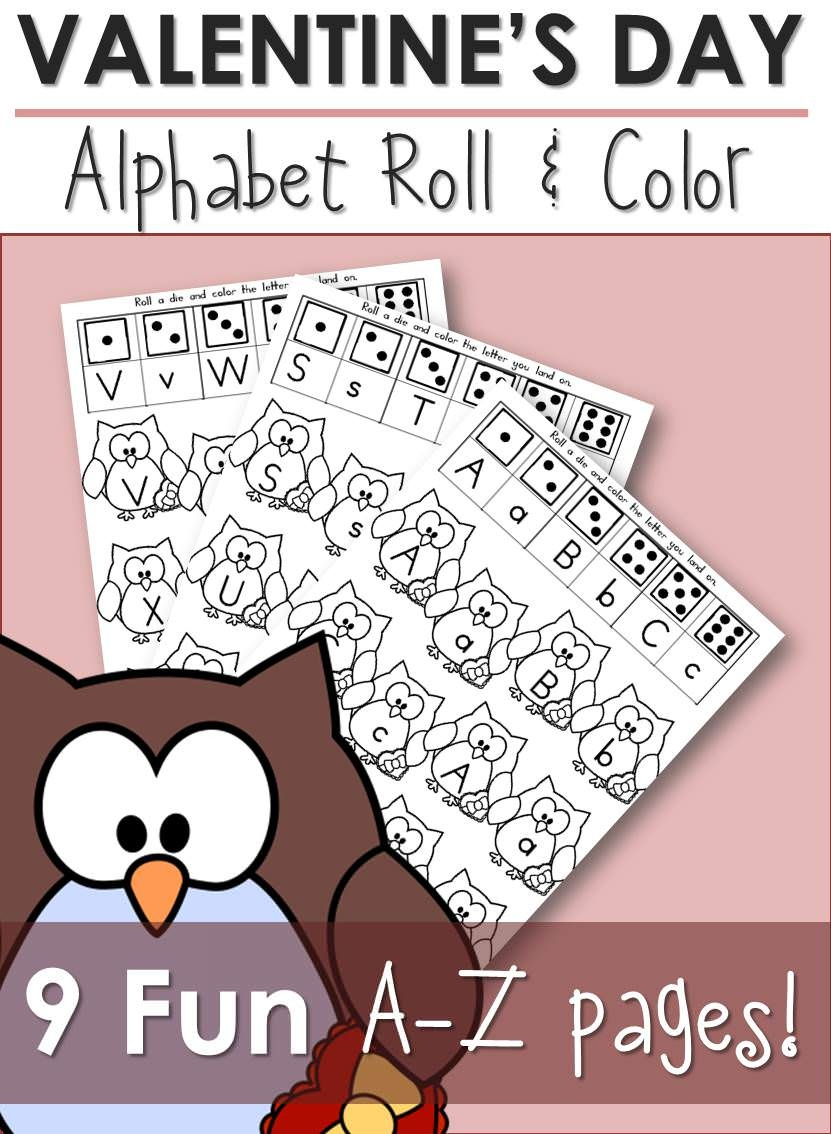 Free Printable Alphabet Activity: Alphabet Roll & Color - Roll A Monster Free Printable