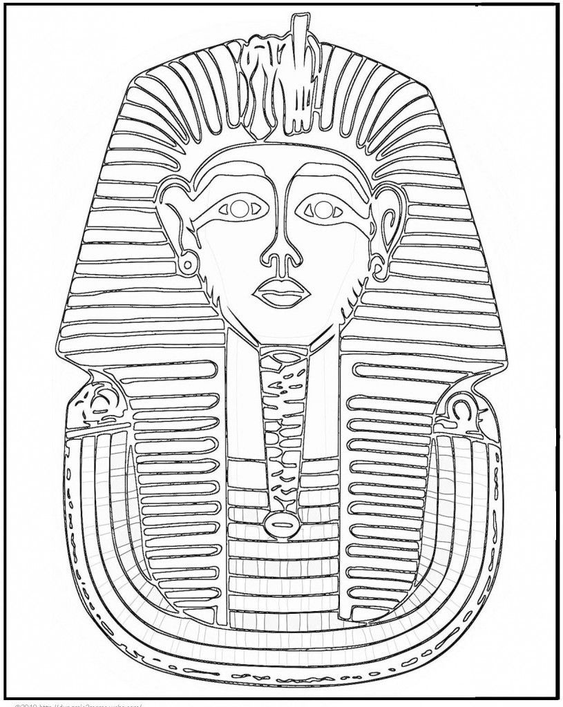 Free Printable Ancient Egypt Coloring Pages For Kids   Ancient Egypt - Free Printable Sarcophagus