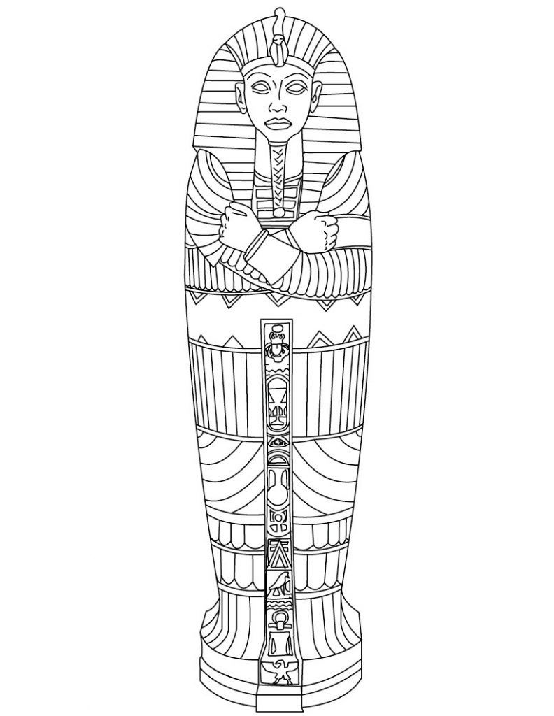Free Printable Ancient Egypt Coloring Pages For Kids | Social - Free Printable Sarcophagus