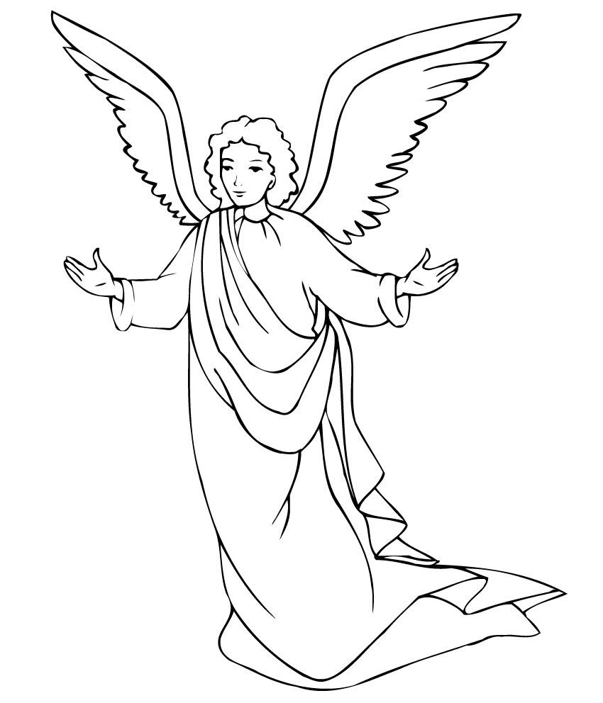Free Printable Angel Coloring Pages For Kids   Printables   Angel - Free Printable Pictures Of Angels