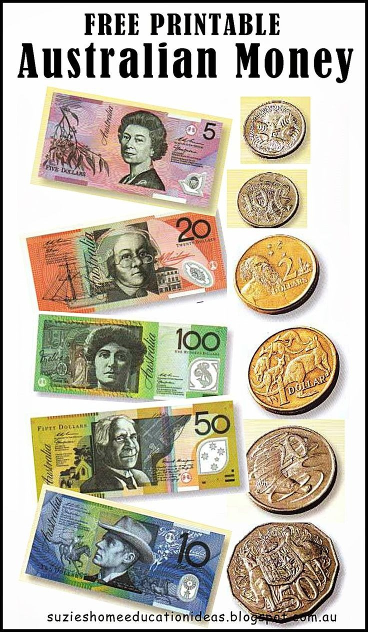 Free Printable Australian Money (Notes & Coins) - Would Be Great For - Free Printable Money