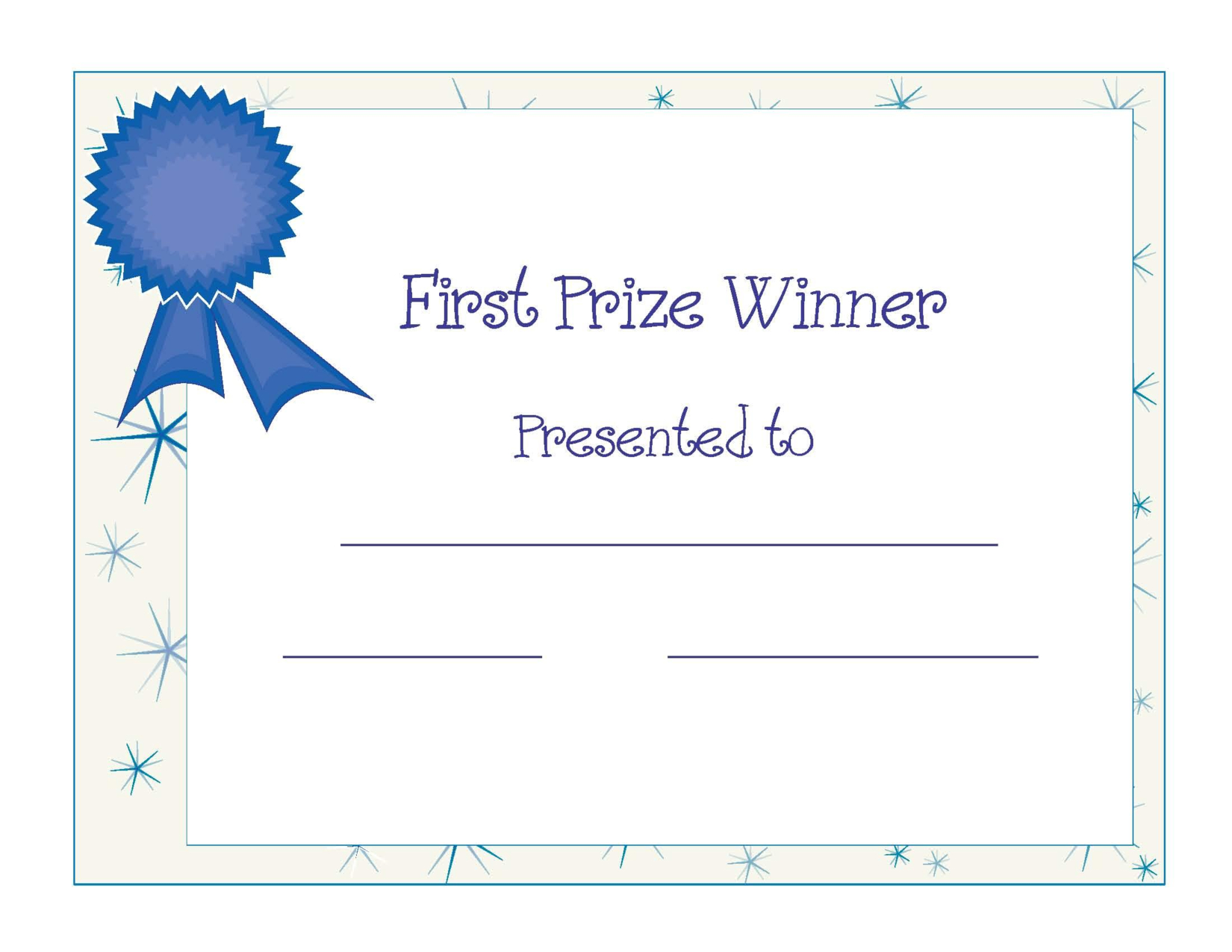 Free Printable Award Certificate Template | Free Printable First - Free Printable Blank Certificate Templates