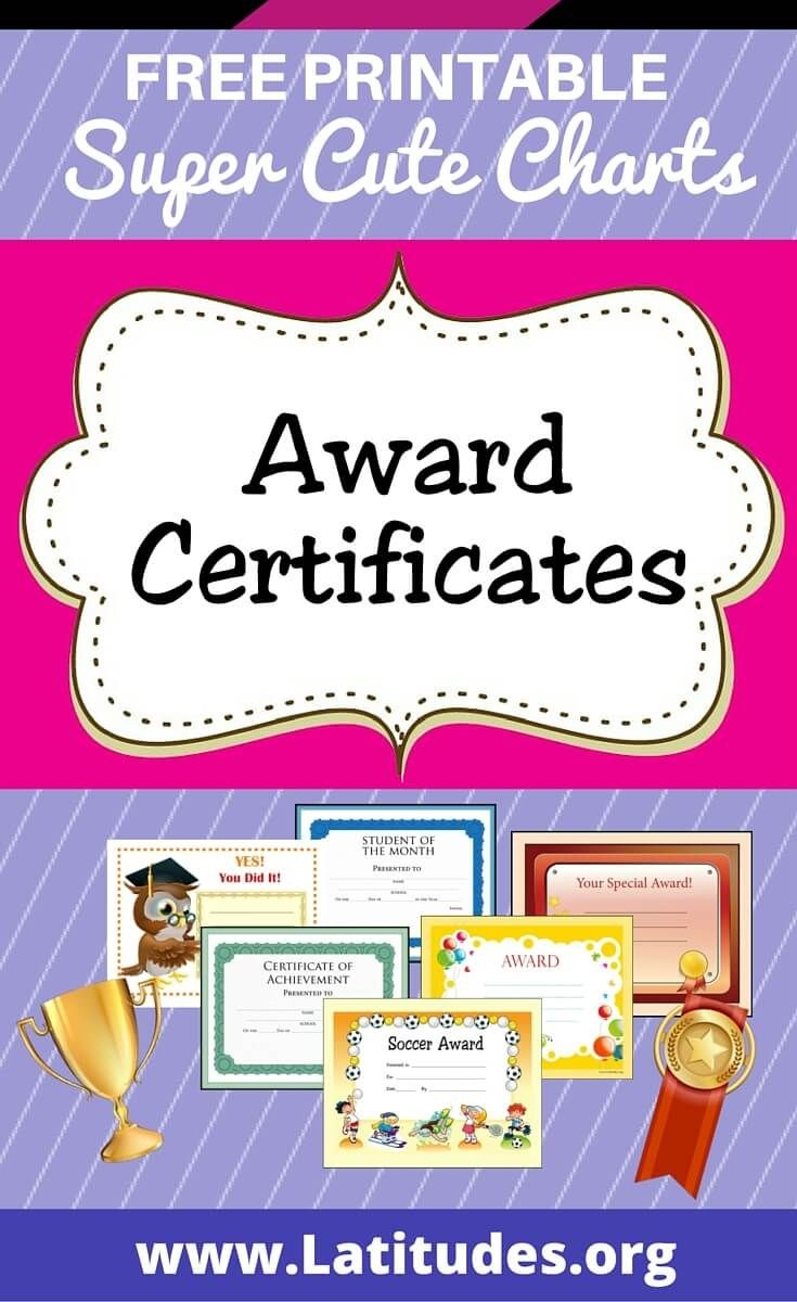 Free Printable Award Certificates For Kids | Awards/certificates For - Free Printable Awards