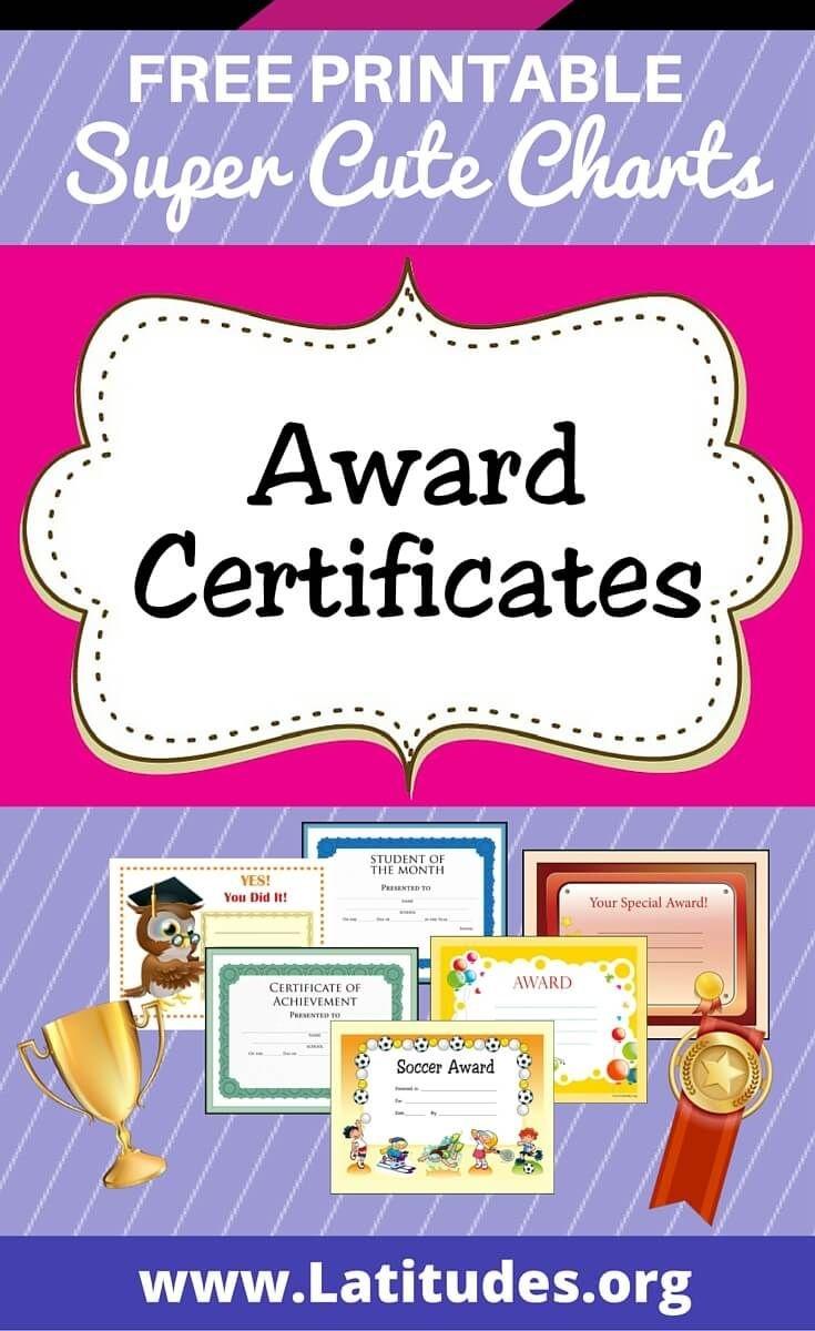 Free Printable Award Certificates For Kids | Homeschool | Award - Free Printable Swimming Certificates For Kids