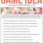 Free Printable Baby Shower Songs Guessing Game   Play Party Plan   Free Printable Baby Shower Games With Answer Key