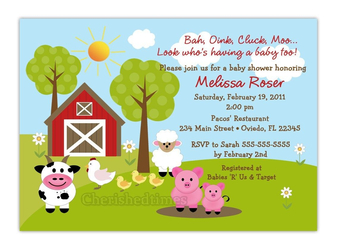 Free Printable Barnyard Farm Invitation Template. Like This Item - Free Printable Farm Birthday Invitations