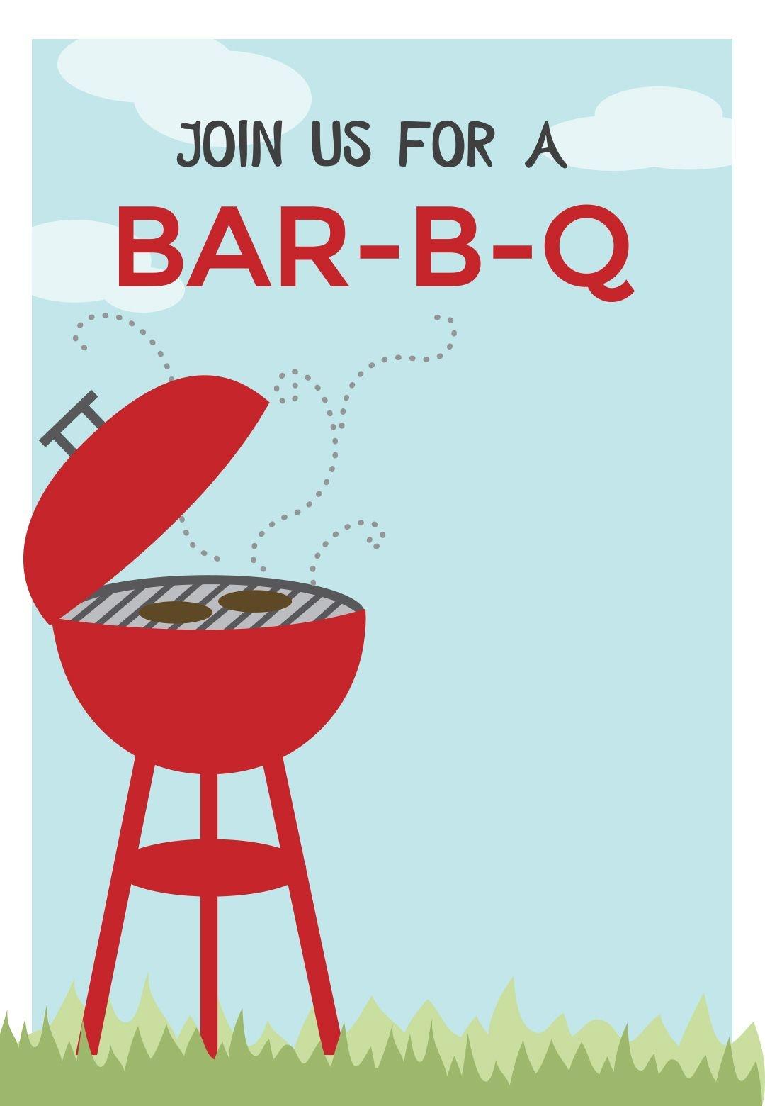 Free Printable Bbq Party Invitation - Bbq Cookout | Greetings Island - Free Printable Cookout Invitations
