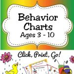 Free Printable Behavior Charts (Ages 3 10) | Acn Latitudes   Free Printable Reward Charts For 2 Year Olds