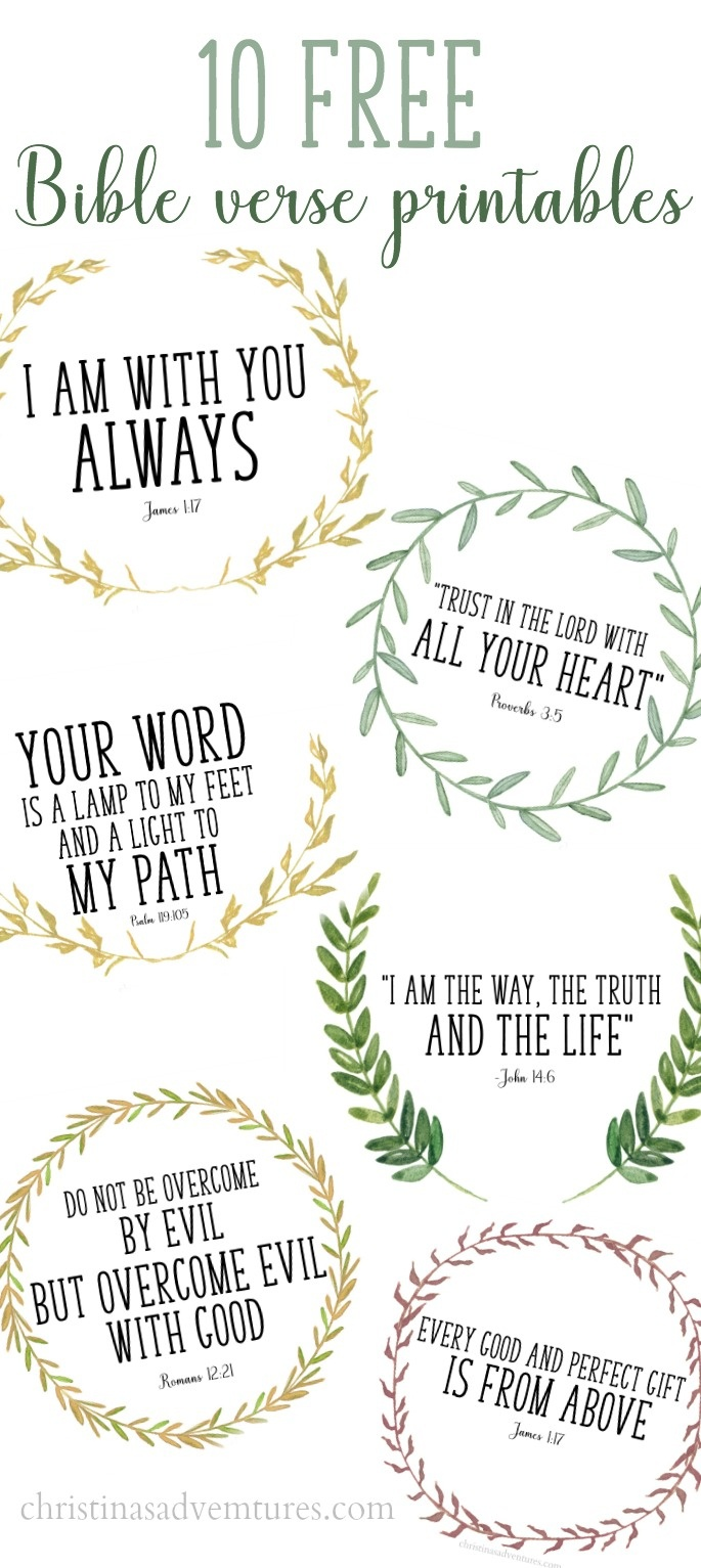 Free Printable Bible Verses - Christinas Adventures - Free Printable Bible Verses For Children