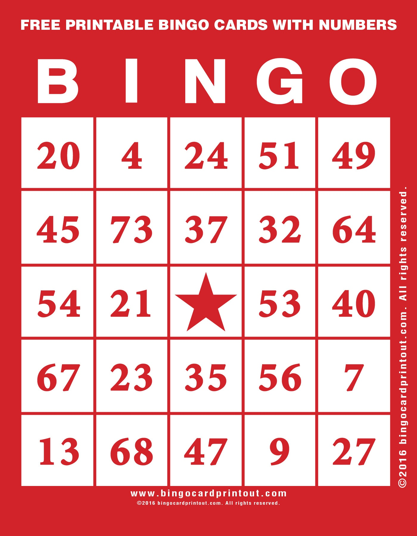 Free Printable Bingo Cards With Numbers - Bingocardprintout - Free Printable Bingo Cards With Numbers