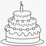Free Printable Birthday Cake Coloring Pages For Kids Cool2Bkids   Free Printable Pictures Of Birthday Cakes