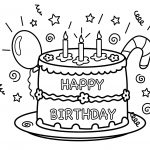 Free Printable Birthday Cake Coloring Pages For Kids   Free Printable Pictures Of Birthday Cakes