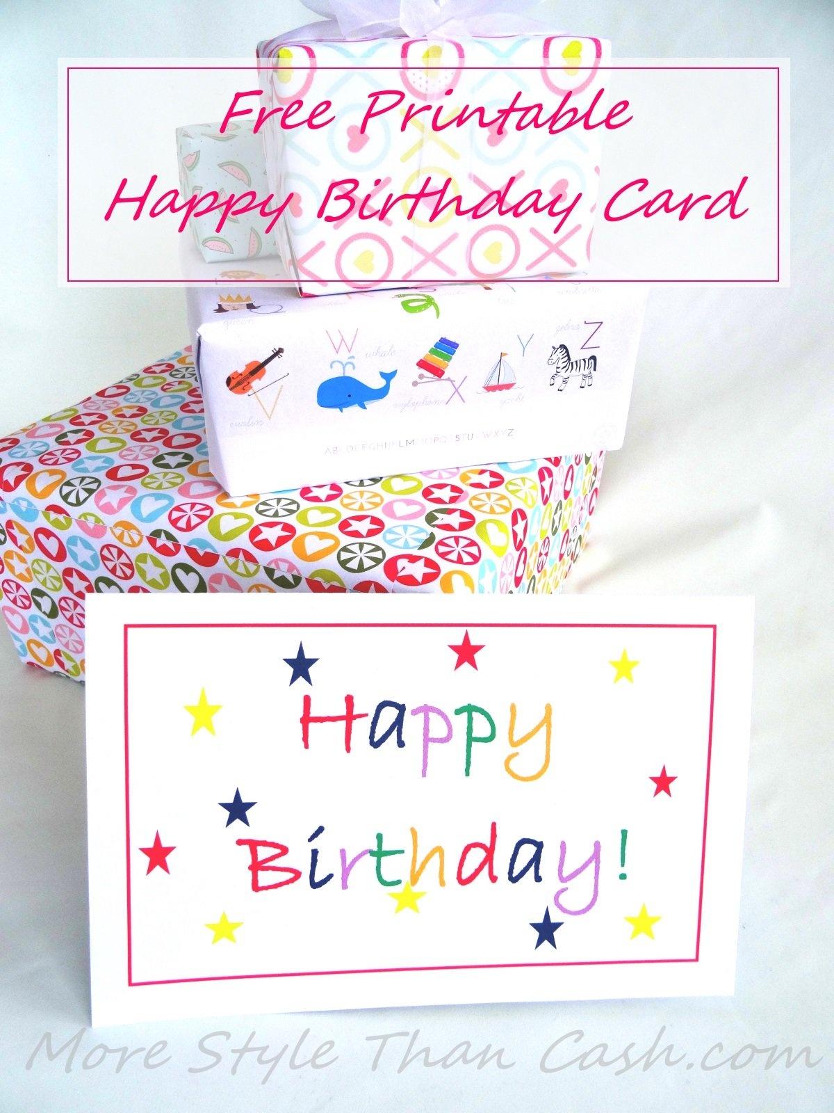 Free Printable Birthday Card - Free Printable Bday Cards