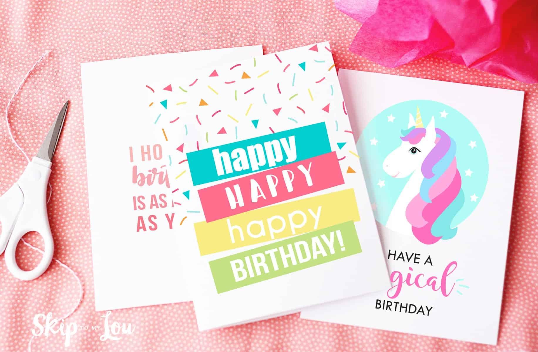 Free Printable Birthday Cards   Skip To My Lou - Free Printable Birthday Cards For Your Best Friend