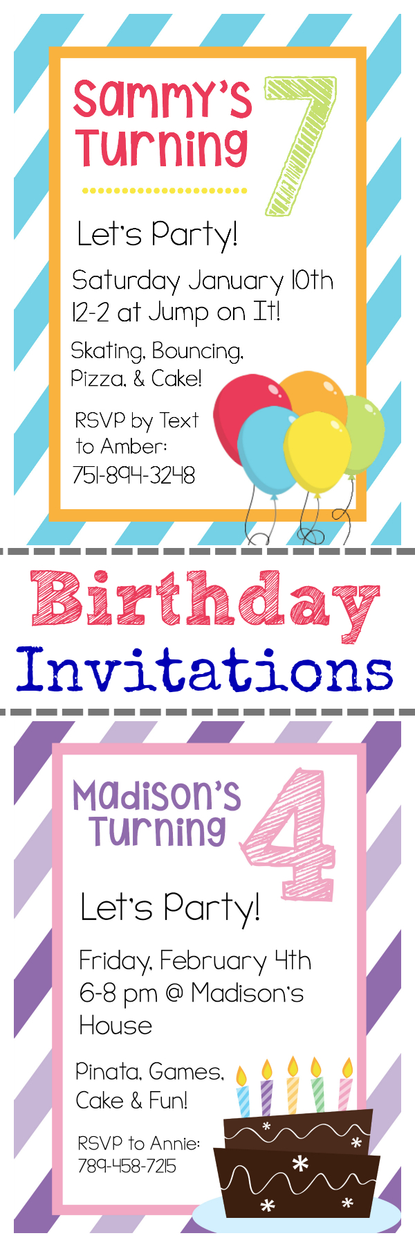 Free Printable Birthday Invitation Templates - Free Printable Birthday Invitations