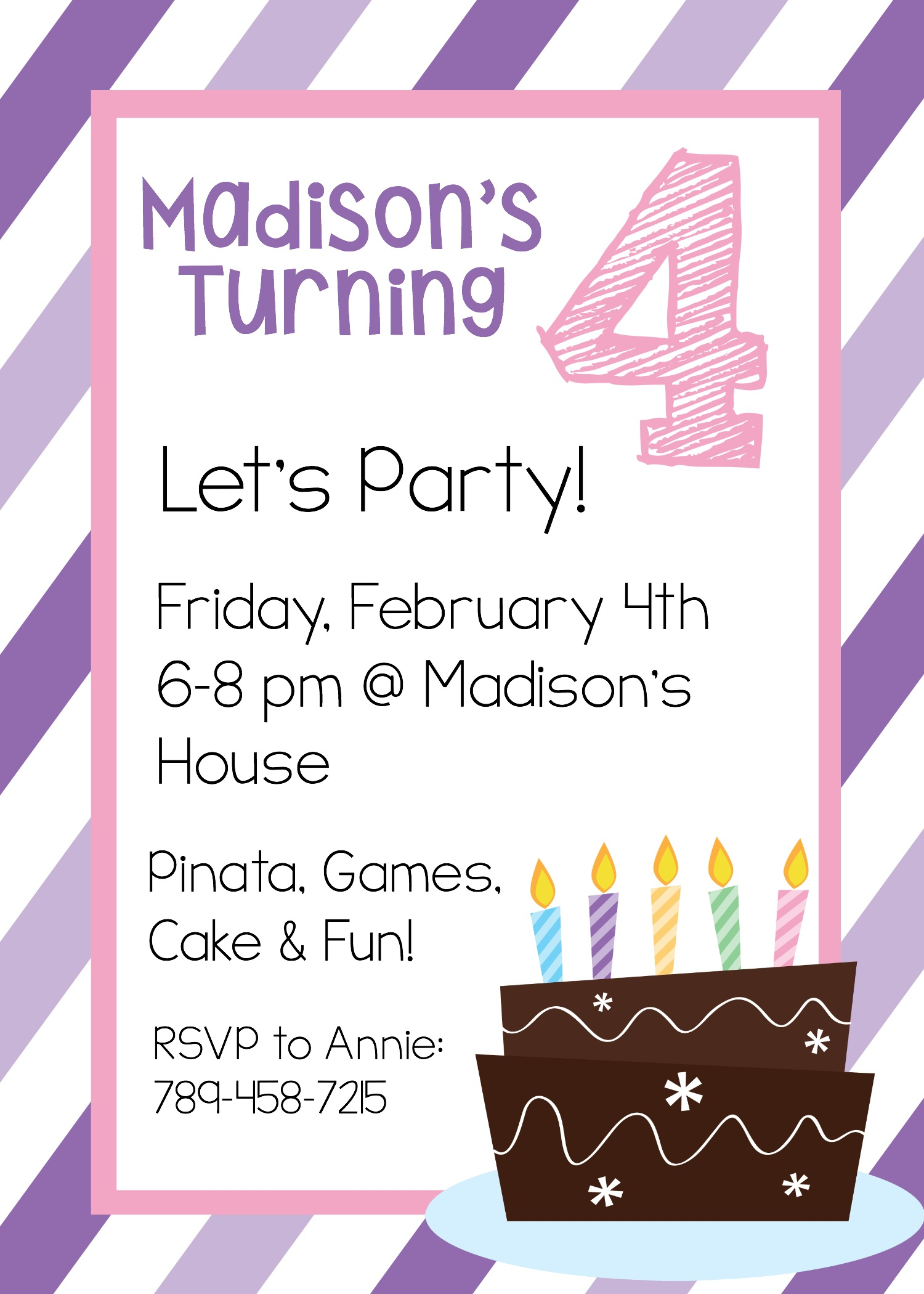 Free Printable Birthday Invitation Templates - Free Printable Girl Birthday Invitations