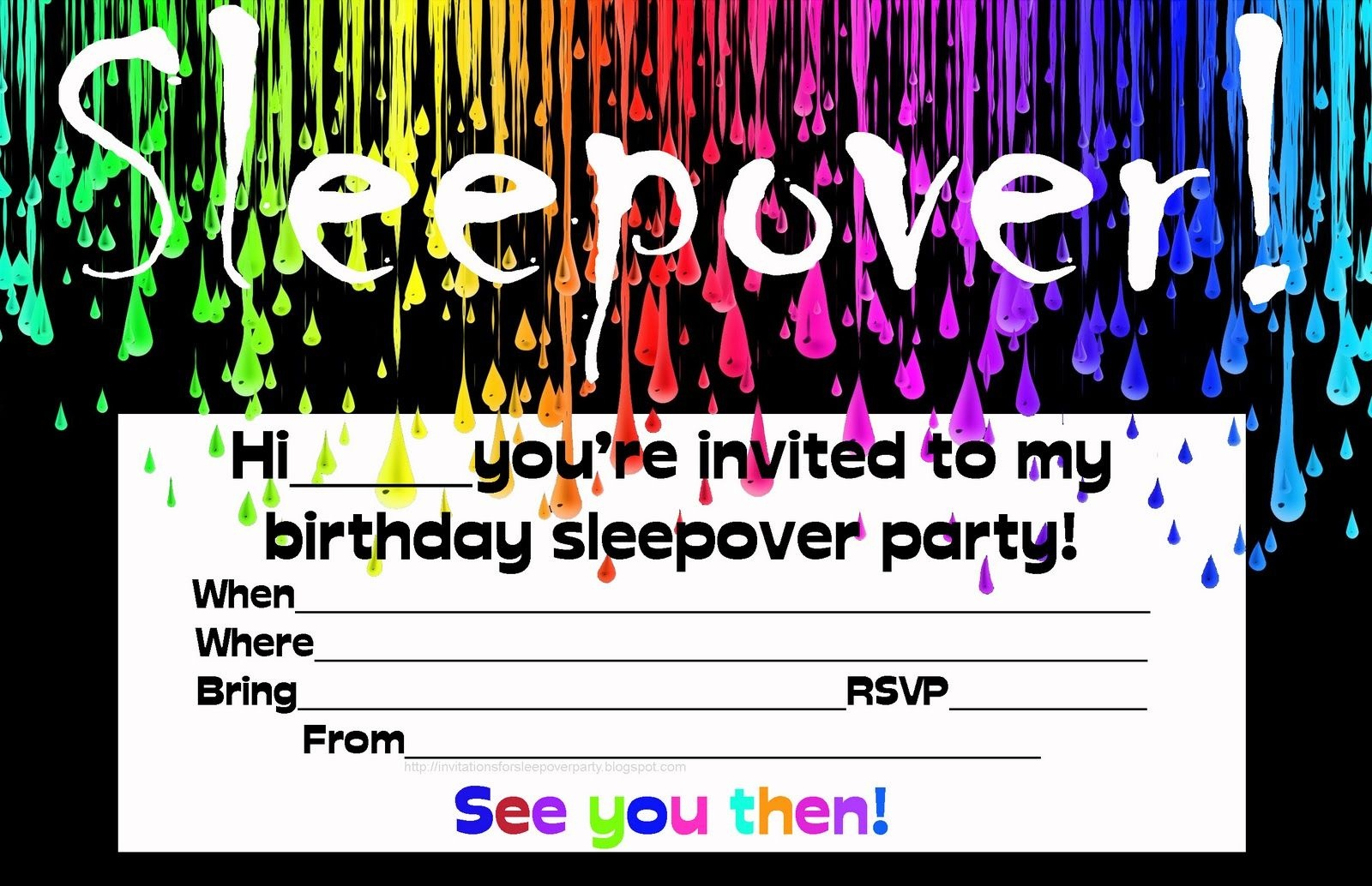 Free Printable Birthday Invitation Templates Tye Dye | Invitions In - Free Printable Glow In The Dark Birthday Party Invitations