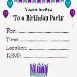 Free Printable Birthday Invitations For Kids #freeprintables   Free Printable Invitations