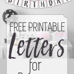 Free Printable Black And White Banner Letters   Diy Banners   Diy Swank Free Printable Letters