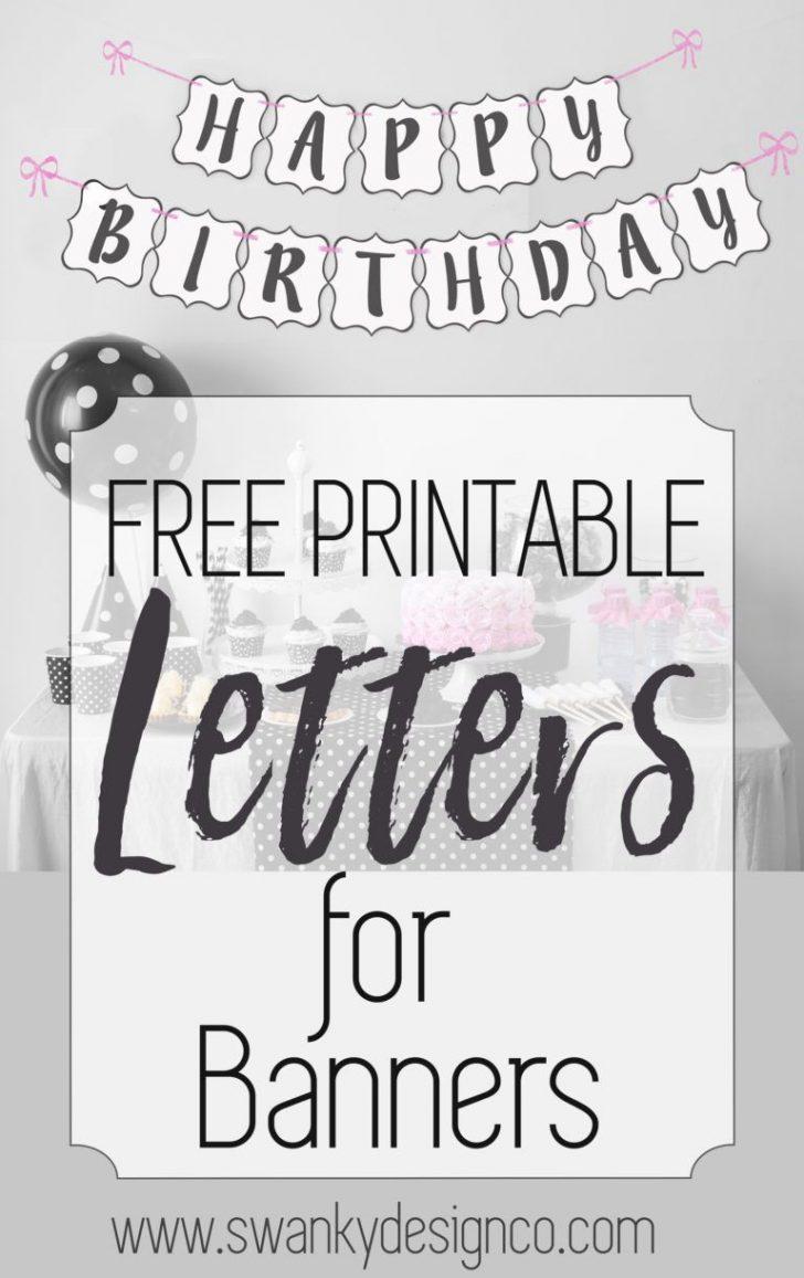 Diy Swank Free Printable Letters