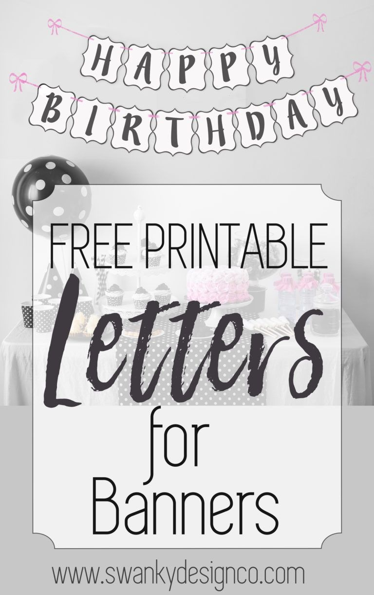 Free Printable Black And White Banner Letters | Diy Banners - Diy Swank Free Printable Letters