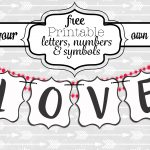Free Printable Black And White Banner Letters   Diy Swank   Diy Swank Free Printable Letters