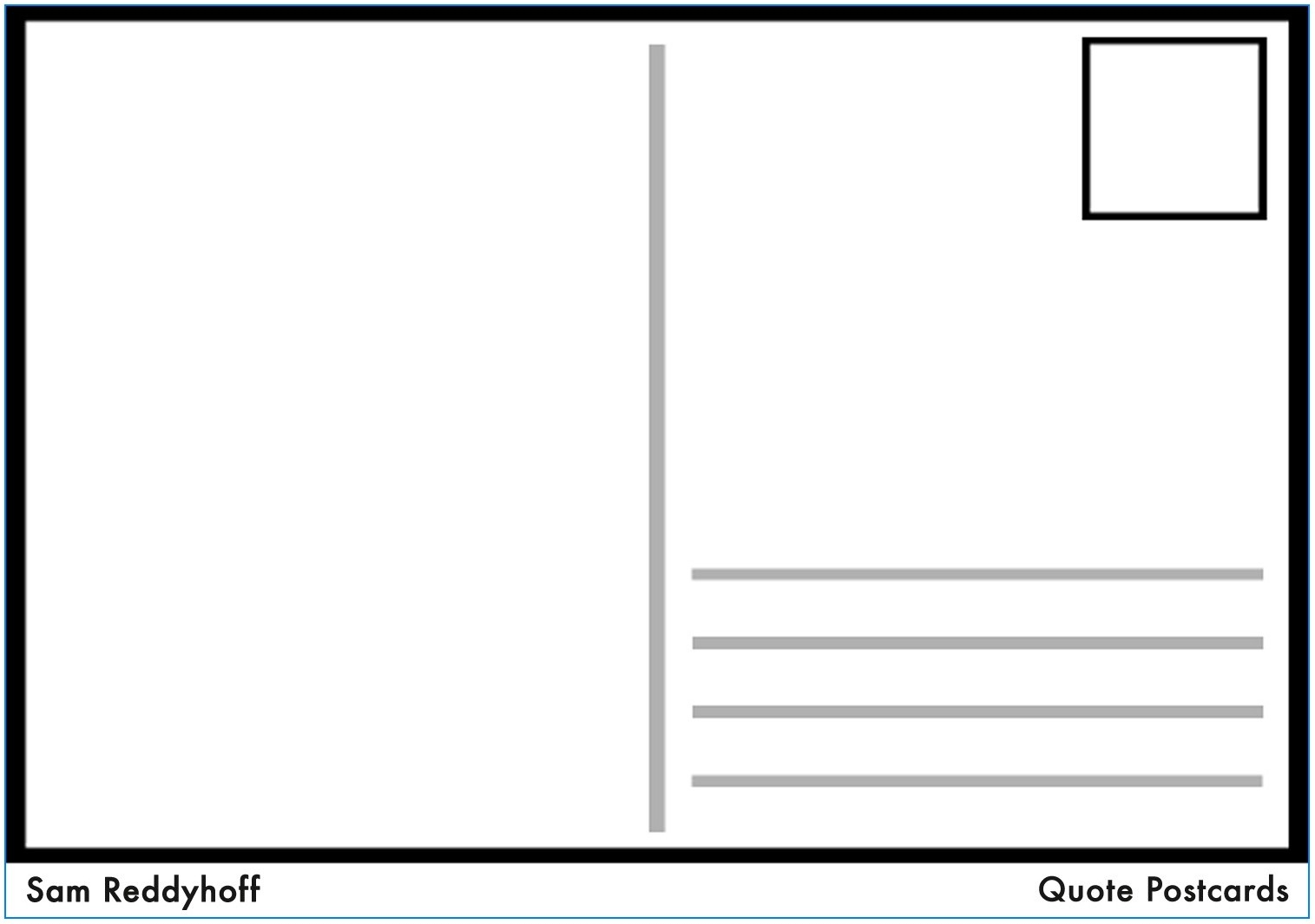 Free Printable Blank Postcard Template - Template : Resume Examples - Free Blank Printable Postcards