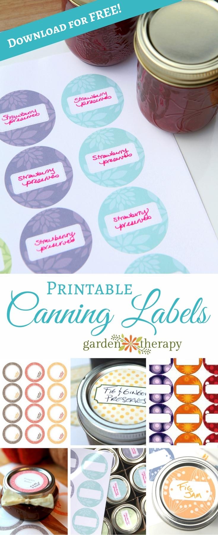 Free Printable Canning Labels - Free Printable Jam Labels
