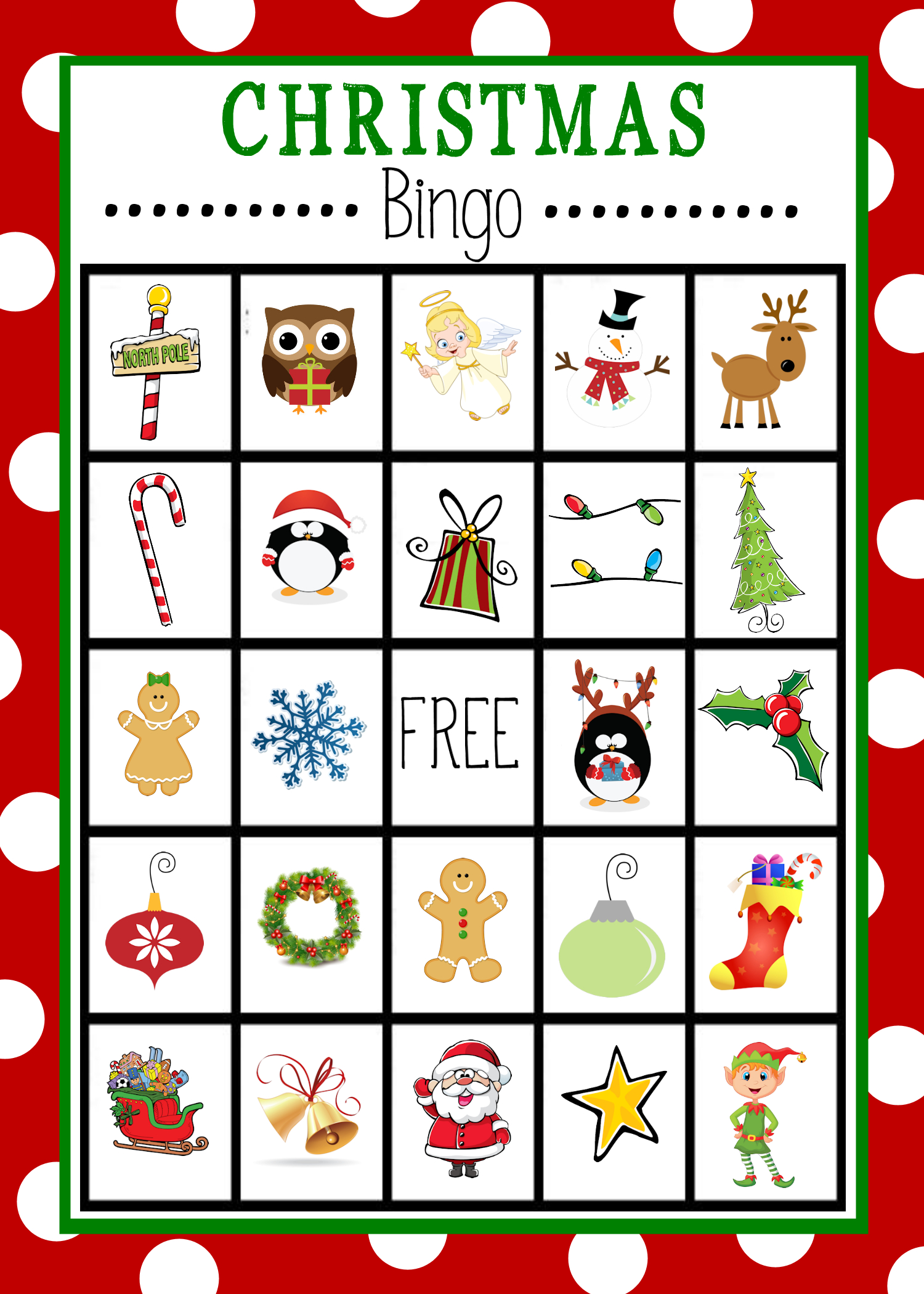 Free Printable Christmas Bingo Game | Christmas | Christmas Bingo - Free Printable Christmas Bingo