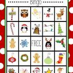 Free Printable Christmas Bingo Game   Christmas   Christmas Bingo   Free Printable Christmas Board Games