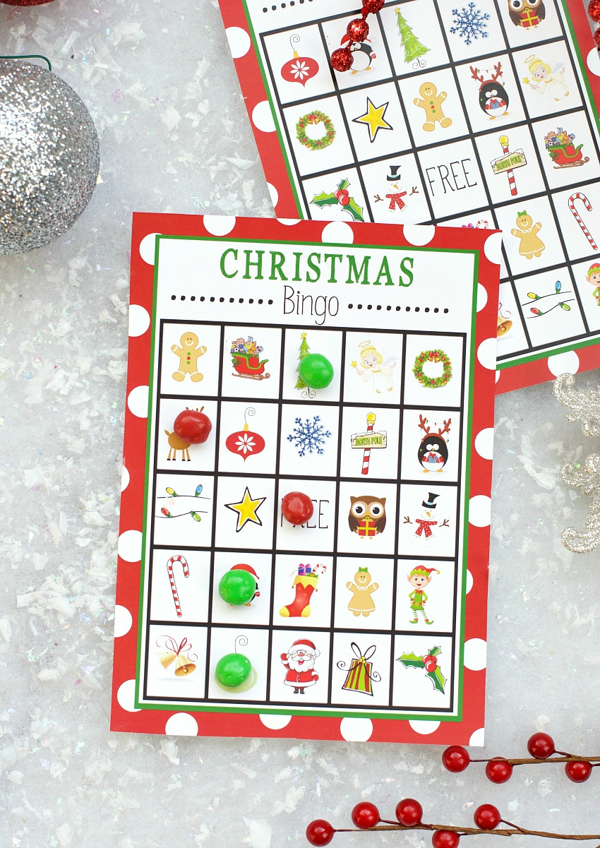 Free Printable Christmas Bingo Game – Fun-Squared - Free Printable Christmas Bingo Cards