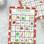 Free Printable Christmas Bingo Game – Fun Squared   Free Printable Christmas Board Games