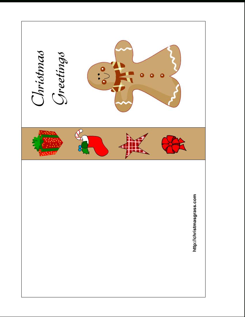 Free Printable Christmas Cards | Free Printable Christmas Card With - Free Printable Christmas Card Templates