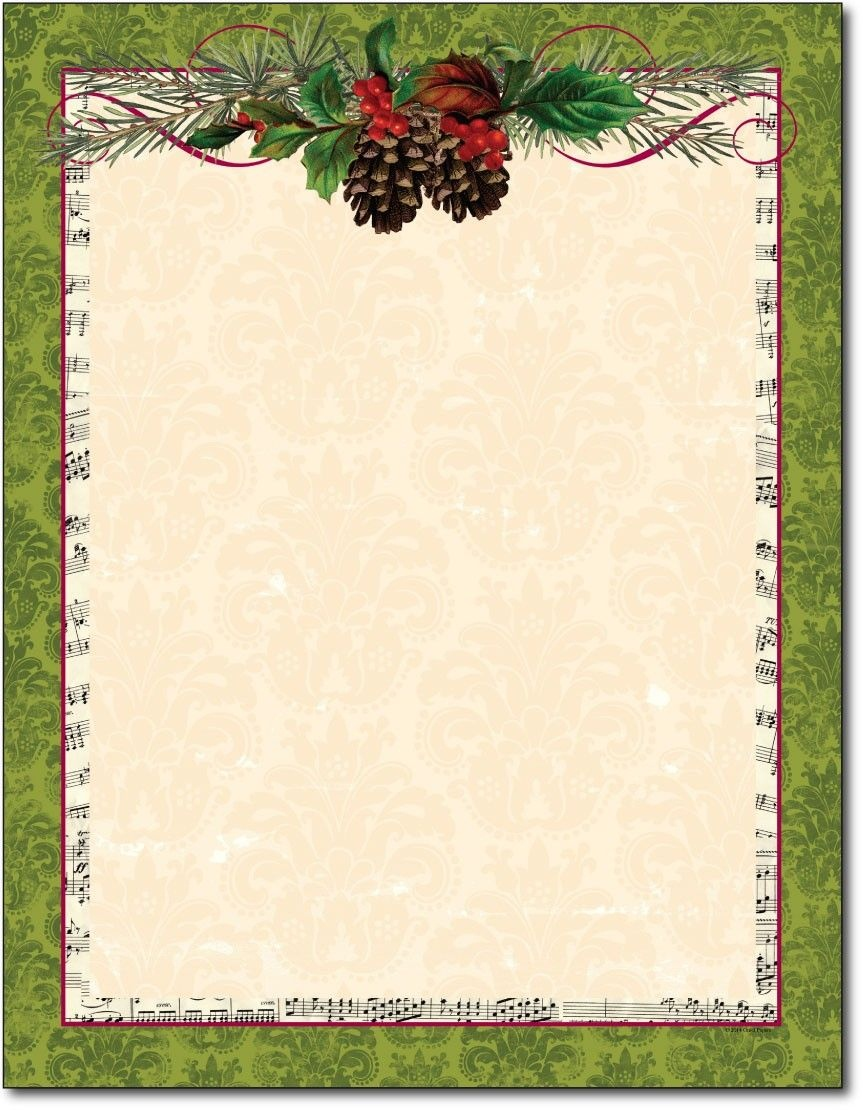 Free Printable Christmas Paper Stationery - Google Search - Free Printable Christmas Letterhead