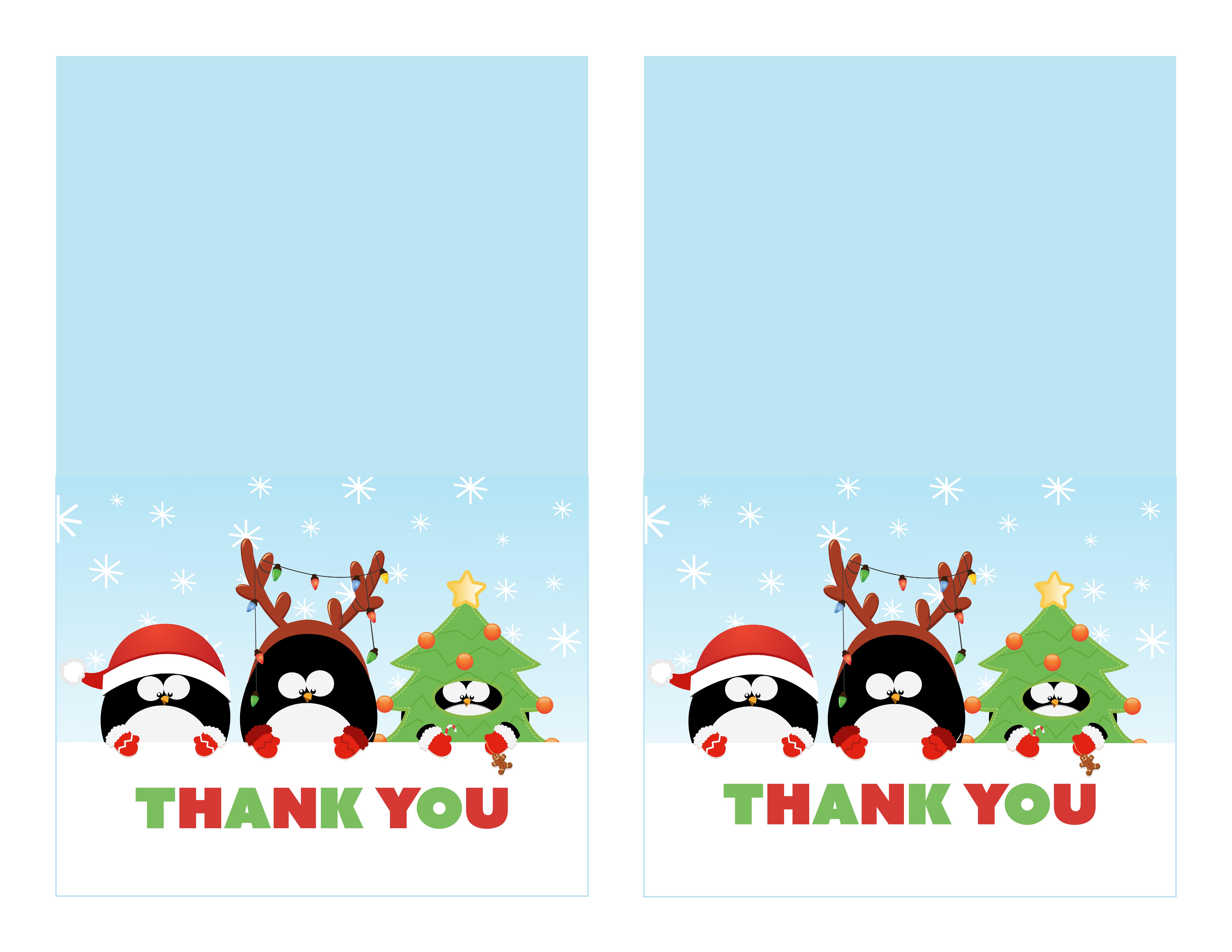 Free Printable Christmas Thank You Cards - Printable Cards - Free Printable Happy Holidays Greeting Cards