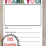 Free Printable Christmas Thank You Note For Kids! | Kid Stuff   Free Christmas Thank You Notes Printable