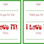 Free Printable Christmas Thank You Notes – Festival Collections   Free Christmas Thank You Notes Printable