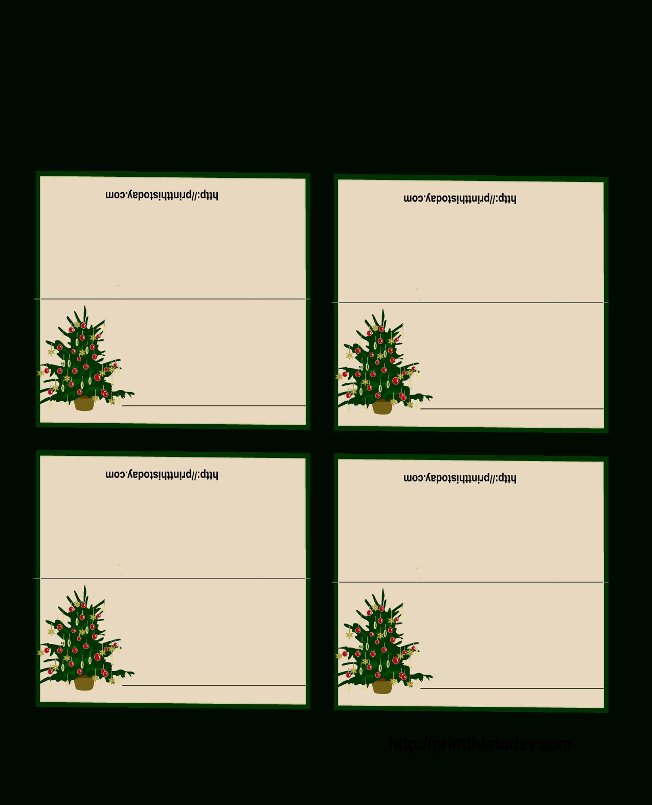 Free Printable Christmas Tree Place Cards | *+* Free Holiday - Free Printable Christmas Tent Cards