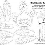 Free Printable   Clothespin Turkey. Easy Craft Idea For The Kids   Free Printable Turkey Craft