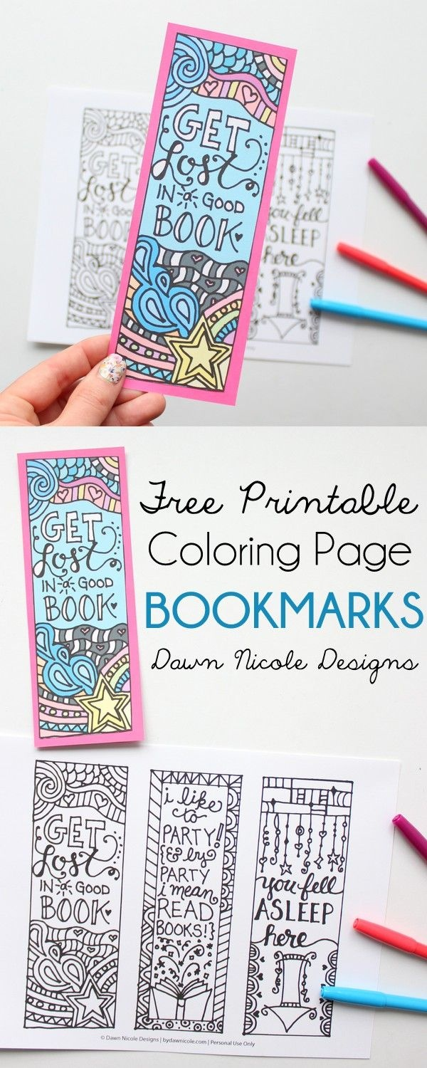 Free Printable Coloring Page Bookmarks | Library Printables & Other - Free Printable Bookmarks For Libraries