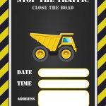 Free Printable Construction Invitation Templates | Elias & Charbel   Free Printable Construction Birthday Invitation Templates