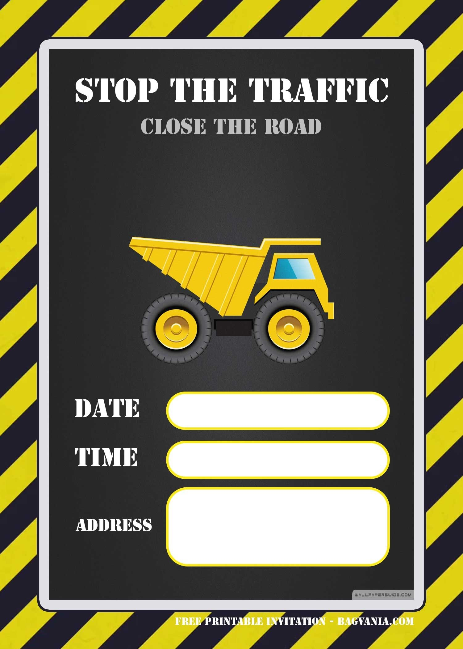 Free Printable Construction Invitation Templates | Elias & Charbel - Free Printable Construction Invitations