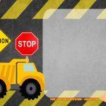Free Printable Construction Vehicles Birthday Invitation | Party   Free Printable Construction Birthday Invitation Templates