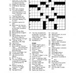 Free Printable Crossword Puzzles For Adults | Puzzles Word Searches   Free Printable Fill In Puzzles Online
