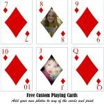 Free Printable Custom Playing Cards | Add Your Photo And/or Text   Free Printable Deck Of Cards