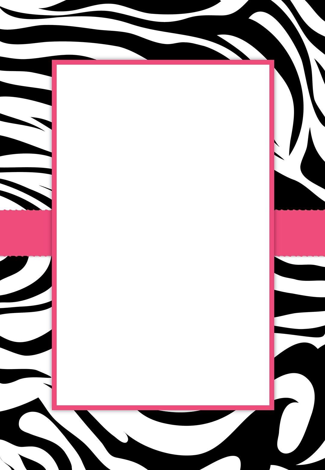 Free #printable Customizable Zebra Stripes #party Invitation | Party - Free Printable Zebra Baby Shower Invitations