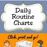 Free Printable Daily Routine Charts For Kids | Acn Latitudes   Free Printable Morning Routine Chart